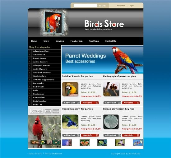 Gentex Networks Birds Store